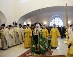 Святейший Патриарх Кирилл освятил храм Всех святых в г. Гусеве
