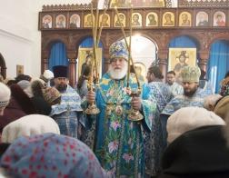 В праздник Введения во храм Пресвятой Богородицы Патриарший Экзарх совершил Литургию во Введенском монастыре деревни Богуши
