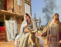 Новые рождественские почтовые карточки показывают Святую Землю в огне войны