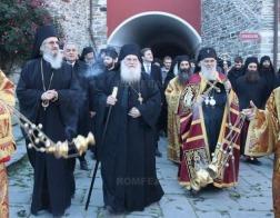 Патриарх Сербский Ириней в ходе паломничество на Афон посетил Ватопедский монастырь