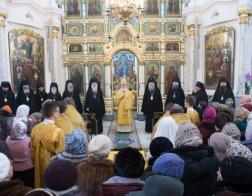 В день памяти апостола Андрея Первозванного в Свято-Духовом кафедральном соборе города Минска состоялось соборное архиерейское богослужение