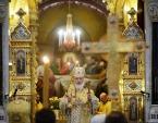 В день памяти святителя Филарета Московского Предстоятель Русской Церкви совершил Литургию в Храме Христа Спасителя