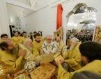 Предстоятель Русской Церкви освятил храм свт. Спиридона Тримифунтского в Нагатинском Затоне г. Москвы