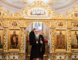 В первый день 2017 года митрополит Филарет совершил Литургию в домовом храме Минского епархиального управления