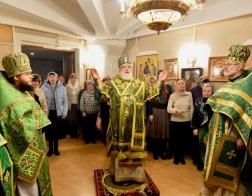 В день памяти праведного Иоанна Кронштадтского митрополит Павел совершил Литургию в храме в честь праведного Иоанна Кронштадтского города Минска