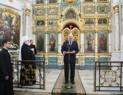 В Свято-Духовом кафедральном соборе состоялась встреча Патриаршего Экзарха и Главы государства