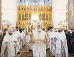 В день памяти первомученика Стефана митрополит Павел совершил Литургию в соборном храме первоверховных апостолов Петра и Павла города Минска