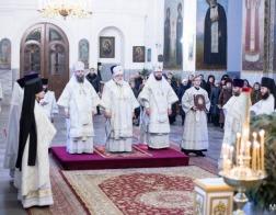 В день памяти мучеников младенцев Вифлеемских Патриарший Экзарх возглавил Литургию в Успенском Жировичском монастыре