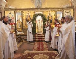 В день отдания праздника Рождества Христова Патриарший Экзарх совершил Литургию в Елисаветинском монастыре города Минска