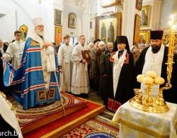 В канун праздника Обрезания Господня митрополит Павел совершил всенощное бдение в Свято-Духовом кафедральном соборе города Минска