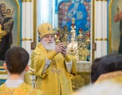 В праздник Обрезания Господня Патриарший Экзарх совершил Литургию в Свято-Духовом кафедральном соборе города Минска