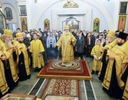 В канун Недели 30-й по Пятидесятнице митрополит Павел совершил всенощное бдение в Свято-Духовом кафедральном соборе города Минска