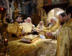 В день памяти святителя Московского Петра Предстоятель Русской Церкви совершил Литургию в Успенском соборе Московского Кремля