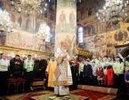 В праздник Собора Пресвятой Богородицы Святейший Патриарх Кирилл совершил Литургию в Успенском соборе Московского Кремля