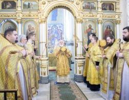 В Неделю о мытаре и фарисее митрополит Павел совершил Литургию в Свято-Духовом кафедральном соборе города Минска