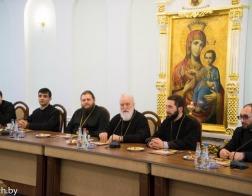 Состоялась встреча Патриаршего Экзарха всея Беларуси с делегацией Армянской Апостольской Церкви