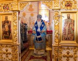 В праздник Сретения Господня митрополит Филарет возглавил Литургию в домовом храме Минского епархиального управления