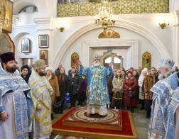 В праздник Сретения Господня Патриарший Экзарх совершил Литургию в Свято-Духовом кафедральном соборе города Минска