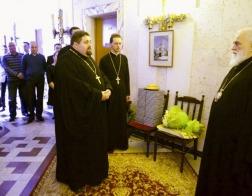 Митрополит Павел принял поздравления с 65-летием со дня рождения от сотрудников Минской Экзархии и Минского епархиального управления