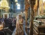 Митрополит Крутицкий Ювеналий возглавил торжества в Донском монастыре по случаю 25-летия обретения мощей святителя Тихона, Патриарха Всероссийского