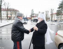 Патриарший Экзарх посетил базу отряда милиции особого назначения ГУВД Мингорисполкома