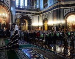 Святейший Патриарх Кирилл совершил вечерню с чином прощения в Храме Христа Спасителя