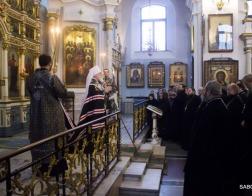 Патриарший Экзарх возглавил воскресную вечерню с чином прощения в Свято-Духовом кафедральном соборе города Минска