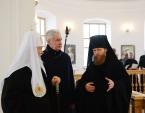 Святейший Патриарх Кирилл и мэр Москвы С.С. Собянин ознакомились с ходом реставрационных работ в Новоспасском монастыре