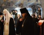 В сороковой день после крушения самолета Ту-154 близ Сочи Святейший Патриарх Кирилл совершил панихиду по погибшим