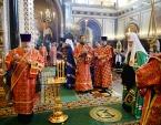 В праздник Собора новомучеников и исповедников Церкви Русской Святейший Патриарх Кирилл совершил Литургию в Храме Христа Спасителя