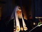 В среду первой седмицы Великого поста Святейший Патриарх Кирилл совершил повечерие с чтением Великого покаянного канона прп. Андрея Критского в Андреевском ставропигиальном монастыре