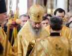 Митрополит Киевский Онуфрий в Неделю Торжества Православия совершил Литургию в Киево-Печерской лавре