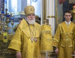 В канун Недели Торжества Православия митрополит Павел совершил всенощное бдение в Свято-Духовом кафедральном соборе города Минска