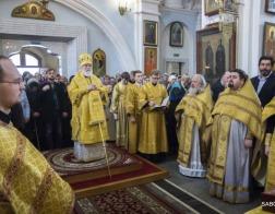 В Неделю Торжества Православия митрополит Павел совершил Литургию в Свято-Духовом кафедральном соборе города Минска