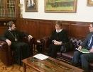 Митрополит Волоколамский Иларион встретился с главой германского Протестантского агентства по диаконии