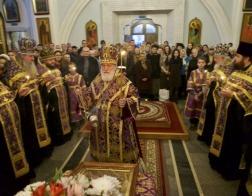 В канун Недели 2-й Великого поста митрополит Павел совершил всенощное бдение в Свято-Духовом кафедральном соборе города Минска