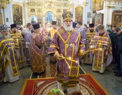 В Неделю вторую Великого поста Патриарший Экзарх совершил Литургию в Свято-Духовом кафедральном соборе города Минска