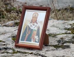 На фундаменте разрушенного храма в Прилепах состоялось молебное пение священномученику Иоанну (Пашину)