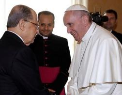 Папа Римский Франциск принял в Ватикане президента Ливана Мишеля Ауна