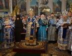 В день празднования в честь иконы Божией Матери «Споручница грешных» Предстоятель Украинской Православной Церкви совершил Литургию в Корецком монастыре