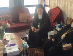 Константинопольский Патриарх Варфоломей впервые посетил низложенного Патриарха Иерусалимского Иринея