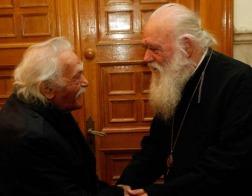 Архиепископ Афинский и всея Греции Иероним встретился с Манолисом Глезосом