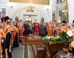 Митрополит Павел совершил Пасхальную великую вечерню в Свято-Духовом кафедральном соборе города Минска