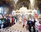 В Светлый понедельник Блаженнейший митрополит Онуфрий совершил богослужения в Вознесенском Флоровском монастыре Киева и в Киево-Печерской лавре
