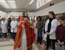 Пасхальный молебен был совершен в Белорусском государственном медицинском университете