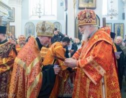 В четверг Светлой седмицы Патриарший Экзарх совершил Пасхальную вечерню и утреню в Свято-Духовом кафедральном соборе города Минска