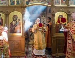 В Неделю 2-ю по Пасхе митрополит Павел совершил Литургию в Воскресенском храме города Минска