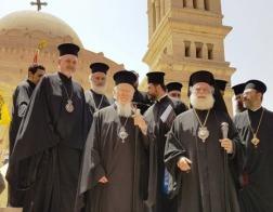Константинопольский Патриарх Варфоломей посетил православный храм св. Георгия в Каире