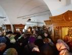 В Великий Понедельник Святейший Патриарх Кирилл совершил Литургию Преждеосвященных Даров в Донском ставропигиальном монастыре