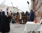 В ходе визита в Санкт-Петербург Святейший Патриарх Кирилл совершил литию по погибшим в результате теракта в метро 3 апреля
